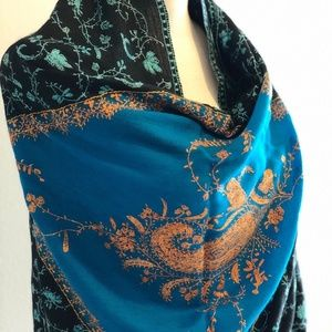 100% Cashmere Hand embroidered shawl